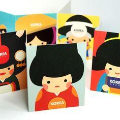 [Stationery (Fancy)] Korea tradition character mini card (set of 6p) $8 on kstargoods.com