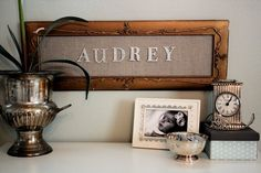I love this idea, but would need a new way to incorporate it as we already have a lot of initial/name type decor