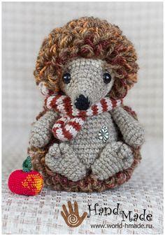 Ежик крючком. Описание вязания. Hedgehog crochet pattern.