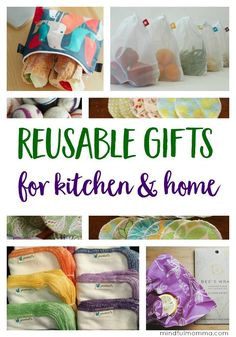 Practical but stylish, reusable gifts for the kitchen & home that keep on giving throughout the year by replacing wasteful, disposable products. | eco friendly | zero waste | reusable products