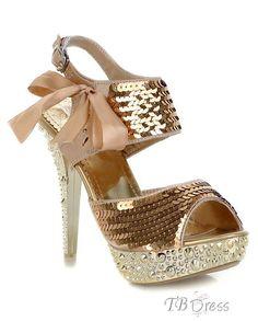 576b1ab1bd38 Sequin Peep Toe Lace-Up Stiletto Heel Sandals