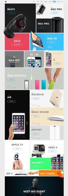 Apple Store redesign. #ecommerce #webdesign #website