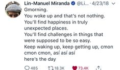Cool Words, Wise Words, Lin Manuel Miranda Quotes, Lin Manual Miranda, The Book Thief, Alexander Hamilton, Good Morning Good Night, Empowering Quotes, Founding Fathers
