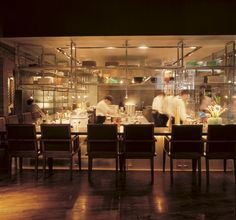 Open Restaurant Kitchen Designs open kitchen hospitality interior design of 13 coins restaurant