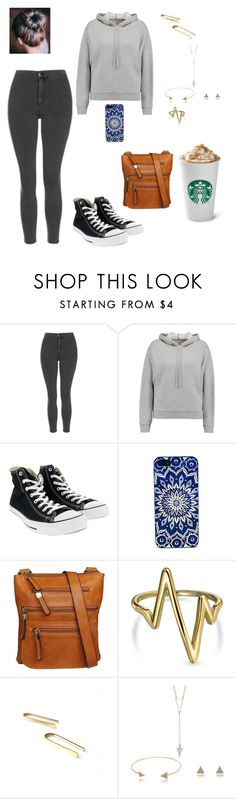 """""""Untitled #94"""" by yvette1118 ❤ liked on Polyvore featuring Topshop, T By Alexander Wang, Converse, Hush Puppies, Bling Jewelry and April Soderstrom Jewelry"""