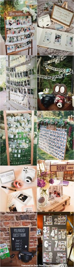 unique wedding ideas - Polaroid wedding reception decor ideas / http://www.deerpearlflowers.com/creative-polaroid-wedding-ideas/ I LOVE THIS!!