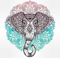elefante hindu para imprimir - Buscar con Google . Take a look at