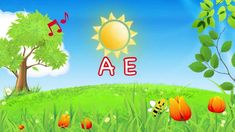 La Canzone Delle Vocali - Didattica per Bambini - A  E I  O U