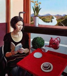 A cup of tea and a good book (illustration by Marta Kiss) Reading Art, Woman Reading, Reading Books, Illustrations, Book Illustration, Jimmy Lawlor, Book Art, Books To Read For Women, Book Letters