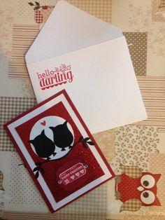 Carte Saint-Valentin fait main - Stampin Up  Owl / Hibou - Scrapbooking