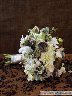 @WeddingsinAR 2012 fall/winter issue. Becky Clement, Inspired by Nature bouquet. Little Rock, AR. Photo by Nancy Nolan.  www.weddingsinarkansas.com