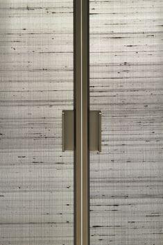 SHERAZADE, sliding and swing doors collection, designed by Piero Lissoni Closet Door Handles, Sliding Door Handles, Wardrobe Handles, Sliding Doors, Wardrobe Door Designs, Wardrobe Doors, Architecture Restaurant, Bedroom Closet Doors Sliding, Door Dividers