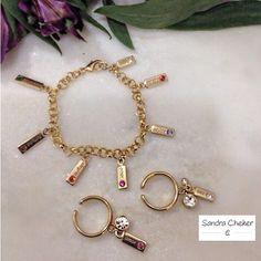 Conjunto de pulseira com anel.