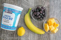 This blueberry mango smoothie provides a nice jolt of energy without the guilt. It's also packed with protein to help keep your energy up. Energy Smoothie Recipes, Mango Smoothie Recipes, Berry Smoothie Recipe, Energy Smoothies, Fruit Smoothies, Healthy Smoothies, Blueberry Mango Smoothie, Protein, Exotic Food