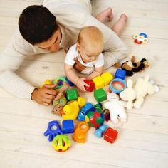 Play on the floor with your baby.