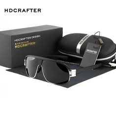 New 2016 HDCRAFTER Leisure Fashion Vintage Sports Outdoor Polarized Driver Aviator Sunglasses Man Brand Designer E009 man buns *** Click the image to visit the AliExpress website