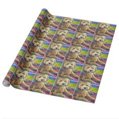 Cute LABRADOODLE Wrapping Paper - portrait gifts cyo diy personalize custom