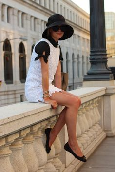 white floral layer