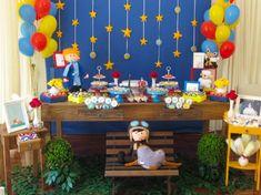 déco anniversaire 1 an idée splendide Le Petit Prince Prince Birthday Theme, Boys 1st Birthday Party Ideas, 1st Boy Birthday, Cupcake Original, Little Prince Party, Party Activities, Party Time, First Birthdays, Bernardo