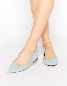 Image 1 of ASOS LOST Pointed Ballet Flats