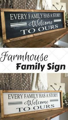 Rustic Wood Sign - Farmhouse Sign - Farmhouse Inspired Signs - Rustic Home  Decor - Family