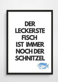 Poster-Typo+Print+KÜCHE++von+PAP-SELIGKEITEN+–+Poster,+Drucke,+Postkarten+auf+DaWanda.com
