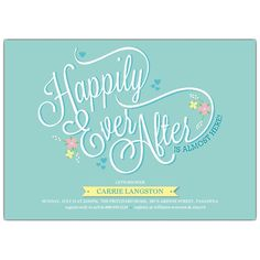 Happily Ever After Bridal Shower Invitations | PaperStyle