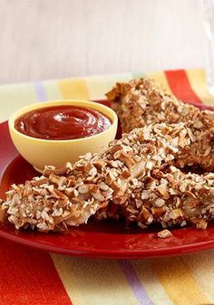Your kids will love these Pretzel Crusted Chicken Tenders—a crunchy take on your traditional recipe.