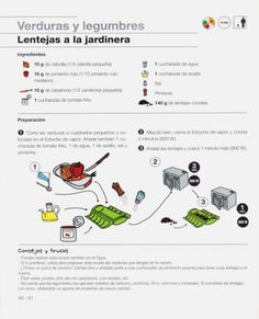 Lékué & Fundación Alicia - De la cocina a la mesa en 10 minutos.pdf Diet Ideas, Recipes, Legumes, Vegetables, Sweets, Beginner Recipes, Illustrated Recipe, Recipies, Ripped Recipes
