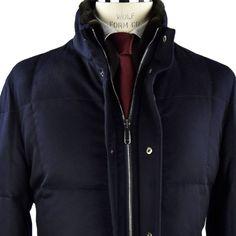 Cesare Attolini coat Blue Italian luxury Coats IsuiT