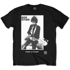 Bob Dylan Band T-Shirt. Blowing in the Wind design. Awesome t-shirt, perfect for any Bob Dylan fan. Bob Dylan, Wind Logo, Blowin' In The Wind, High Quality T Shirts, Black Kids, Cotton Tee, Spun Cotton, Tee Shirts, Unisex