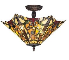Z-Lite Mandolin Chestnut Bronze 3 Light Semi Flush Mount Z18-31SF