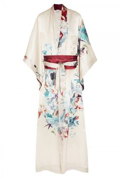 Carine Gilson Floral Print Silk Satin Robe, £1,345, Net-a-Porter