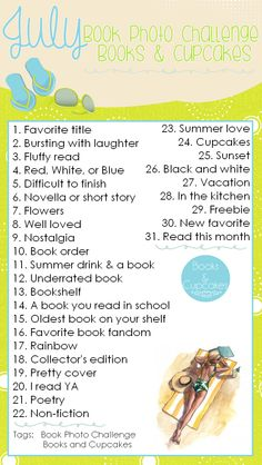 Books and Cupcakes: July Book Photo Challenge
