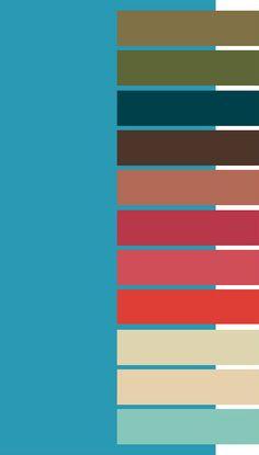 Scuba Blue color palette for Dark Autumn