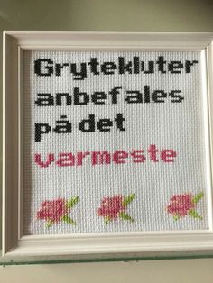 Hardanger Embroidery, Cross Stitch Embroidery, Funny Embroidery, Modern Cross Stitch, New Words, Homemade Gifts, Needlework, Diy And Crafts, Pillow Ideas