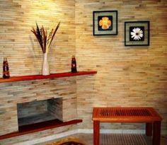 Decorações com Papel Contact    decoração de parede 300x261 Diy Decor, Home Decor, Fireplace