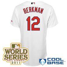 St. Louis Cardinals Authentic Lance Berkman Home Cool Base Jersey w/2011 World Series Patch
