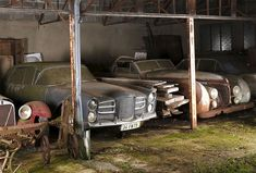 Check out this collection of vintage cars worth £12 Million found on a french farm after 50 years of neglect.