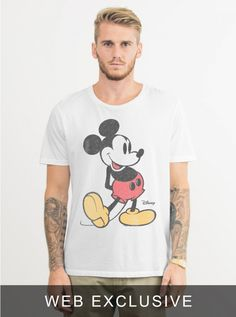 CLASSIC MICKEY MOUSE TEE - Short Sleeve - Tops - Mens