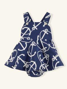 Cotton Anchor Dress - Dresses & Rompers Layette Girl (Newborn–9M) - RalphLauren.com