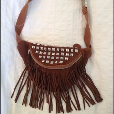 Urban Outfitters Handbags - Brown fringe and studded fanny pack (This came out last year, may need to find it online)