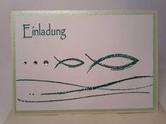 Einladungskarten - Einladung zur Konfirmation Kommunion Taufe  - ein Designerstück von creative-hand-made bei DaWanda