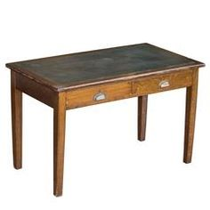 English Arts & Crafts Oak Writing Desk