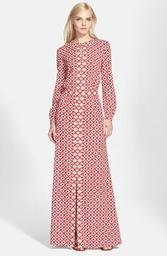 Free shipping and returns on Tory Burch Embellished Silk Caftan at Nordstrom.com. A gently gathered waist defines the relaxed silhouette of a silk caftan dress framed with vintage-inspired barrel sleeves, while a narrow keyhole in front and steeply vented hem add alluring detail to an elegant style.