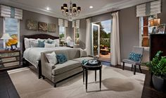 Relax in this Toll Brothers Master Bedroom