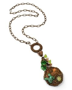 """Use the Melting Pot from Ranger to create this Melt Art Bezel Collage necklace by Jess Italia Lincoln (""""Home Grown"""")"""