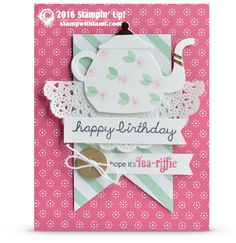 CARD: Happy Birthday Teapot from A Nice Cuppa | Stampin Up Demonstrator - Tami White - Stamp With Tami Crafting and Card-Making Stampin Up blog