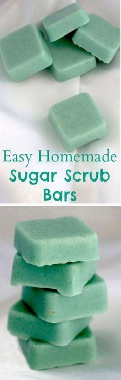 Easy Homemade Sugar Scrub Bars #homemade #beauty #scrub #sugar by Jo HiLL