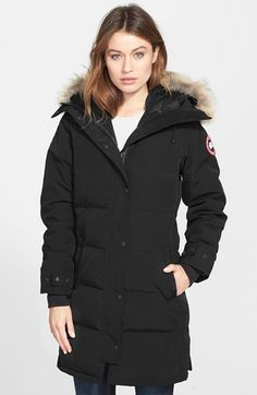 Canada Goose 'Shelburne' Slim Fit Genuine Coyote Fur Trim Down Parka available at #Nordstrom
